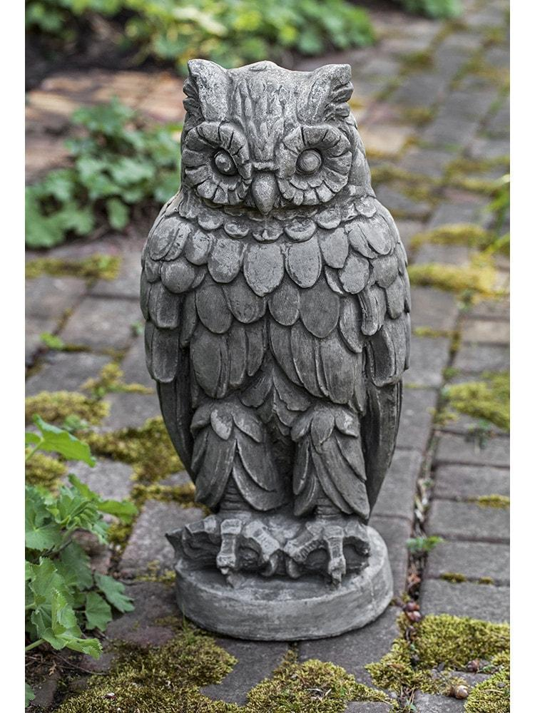 Campania International Wise Old Owl Garden Statue At Home with Beth and Chad