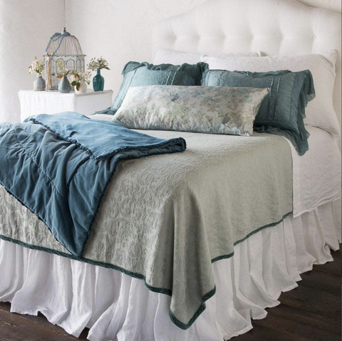 Image of Bella Notte Linens Linen Dust Ruffle - AtHomewithBethandChad.com