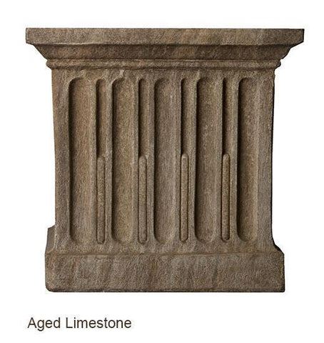 Campania International Textured Small Low Square Pedestal