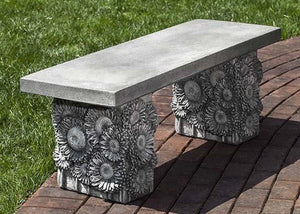 Campania International Sunflower Bench At Home with Beth and Chad