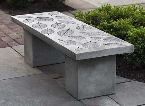 Image of Campania International Hydrangea Bench At Home with Beth and Chad