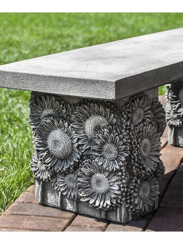 Image of Campania International Sunflower Bench At Home with Beth and Chad