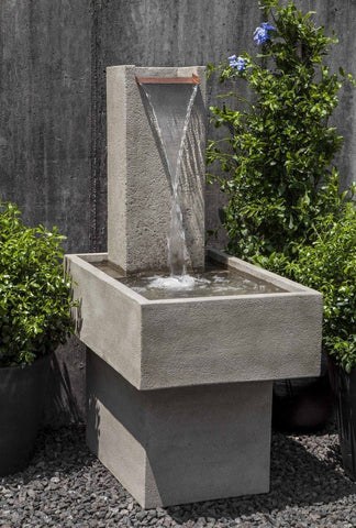 Image of Campania International Falling Water Fountain III At Home with Beth and Chad