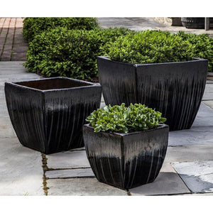 Campania International Lorimar Planter Set of 3 in Antracite