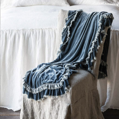 Bella Notte Linens Loulah Throw Blanket - AtHomewithBethandChad.com