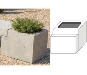 Image of Campania International Large Modular Bench with Planter