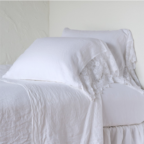 Bella Notte Linens Olivia Linen Pillowcases - AtHomewithBethandChad.com