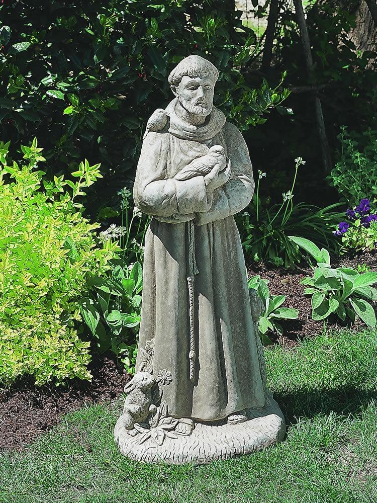 Campania International St Francis with Animals Garden Statue At Home with Beth and Chad