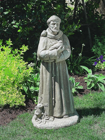 Image of Campania International St Francis with Animals Garden Statue At Home with Beth and Chad