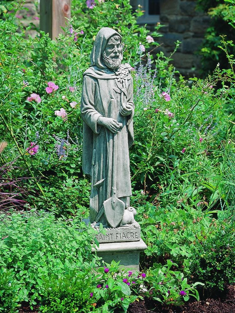Campania International St Fiacre Garden Statue At Home with Beth and Chad