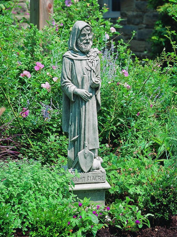 Image of Campania International St Fiacre Garden Statue At Home with Beth and Chad