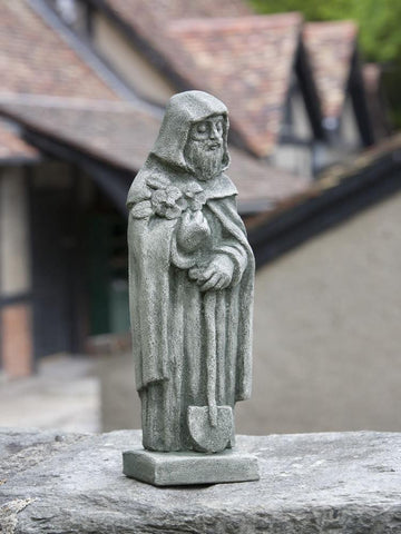 Image of Campania International Small Saint Fiacre Garden Statue At Home with Beth and Chad