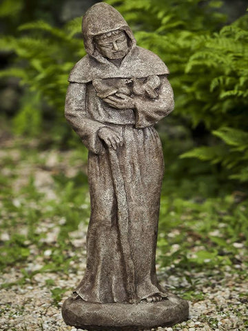 Image of Campania International Woodland St Francis Garden Statue At Home with Beth and Chad
