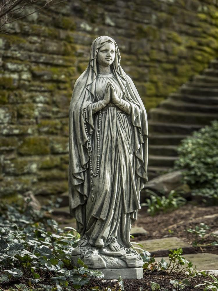 Campania International Large Classic Madonna Garden Statue At Home with Beth and Chad