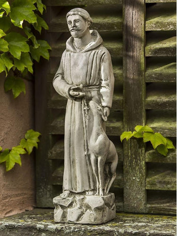 Image of Campania International Small St. Francis with Animals Garden Statue At Home with Beth and Chad