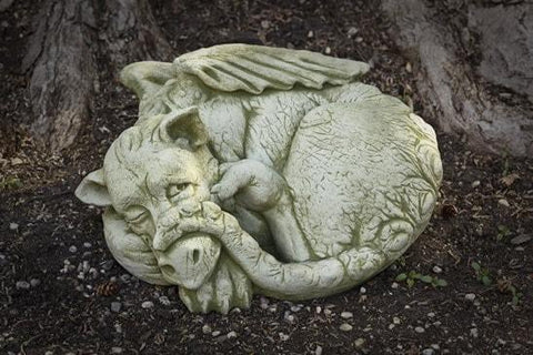 Image of Campania International Peep the Dragon Garden Statue The Garden Gates
