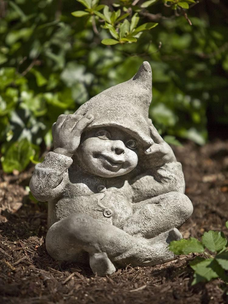 Campania International George the Gnome Garden Statue At Home with Beth and Chad
