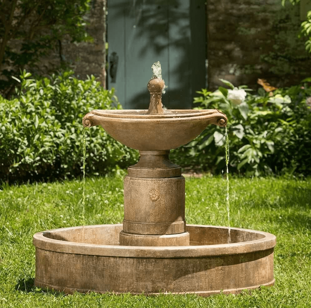 Campania International Borghese Fountain in Basin - AtHomewithBethandChad.com