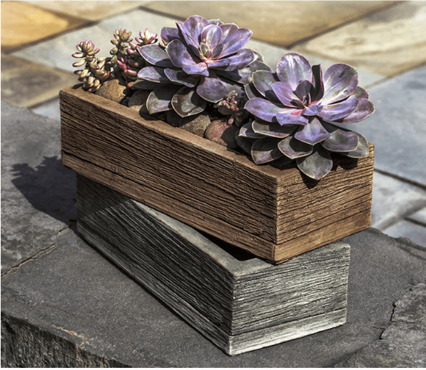 Campania International Barn Board Planter 14 Inches - AtHomewithBethandChad.com