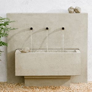 Campania International X3 Wall Fountain At Home with Beth and Chad