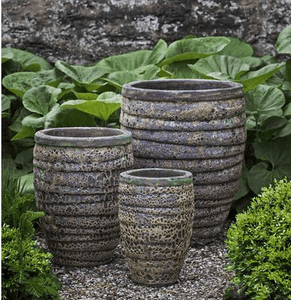 Campania International Guaracha Planter Set of 3 in Angkor Green Mist The Garden Gates