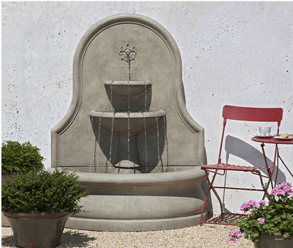 Campania International Estancia Wall Fountain At Home with Beth and Chad