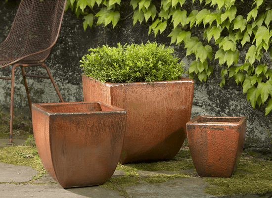 Campania International Lorimar Planter Set of 3 in Cayenne At Home with Beth and Chad