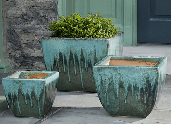 Campania International Lorimar Planter Set of 3 in Falling Jade - AtHomewithBethandChad.com