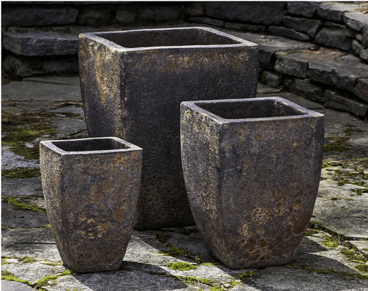 Campania International Banteay Planter Set of Three in Angkor - AtHomewithBethandChad.com