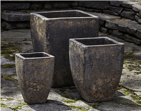 Image of Campania International Banteay Planter Set of Three in Angkor - AtHomewithBethandChad.com