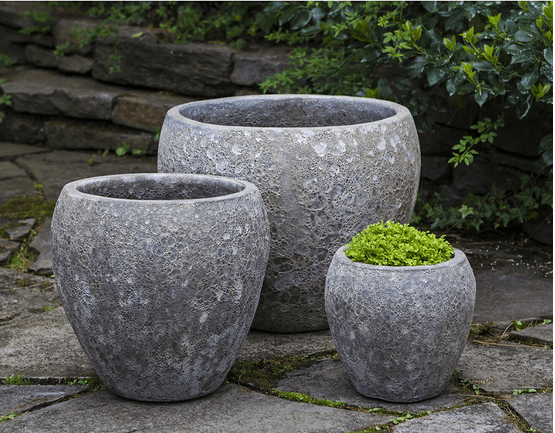 Campania International Symi Planter Set of 3 in Angkor Grey At Home with Beth and Chad