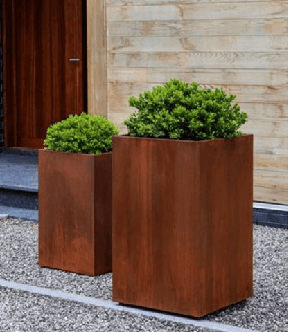 Steel Tall Cube Planter- Set of 2