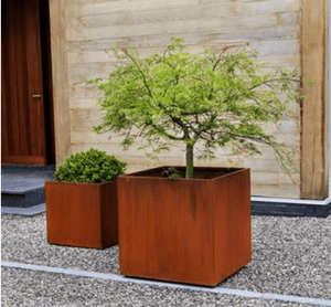 Steel Cube Planter- Set of 2