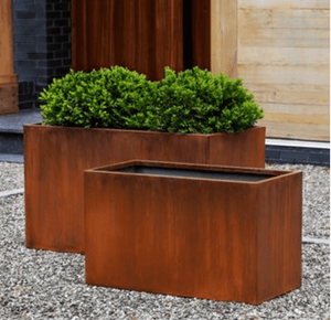 Campania International Steel Box Planter Set of 2