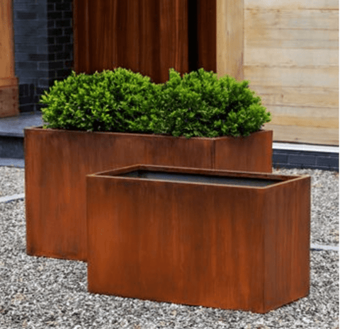 Steel Box Planter - Set of 2