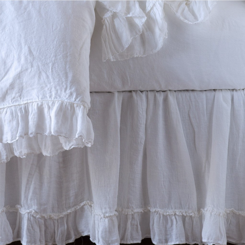 Image of Bella Notte Linens Whisper Linen Dust Ruffles - AtHomewithBethandChad.com