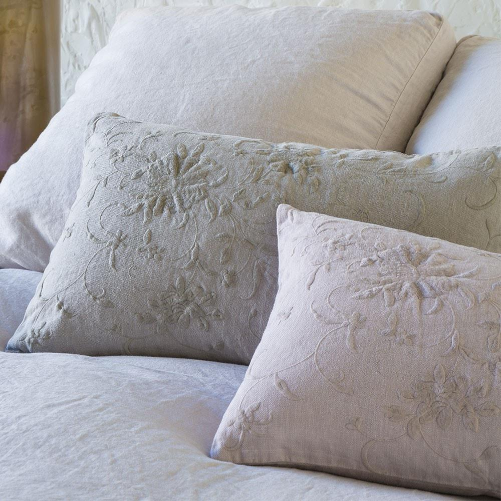 Bella Notte Linens Seville Embroidered Accent Pillow - AtHomewithBethandChad.com