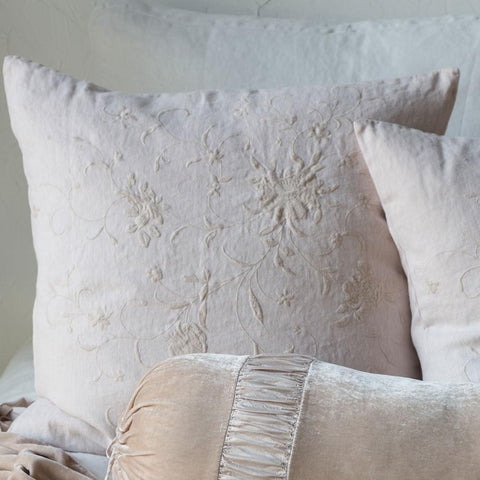 Bella Notte Linens Seville Embroidered Pillow Sham