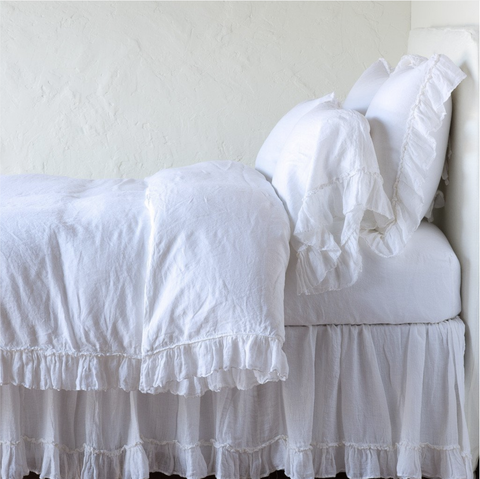 Image of Bella Notte Linens Whisper Linen Duvet Cover - AtHomewithBethandChad.com