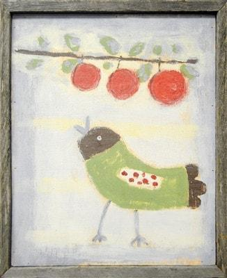 Sugarboo Designs Bird with Cherries Art Print The Garden Gates