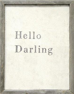 Sugarboo Designs Hello Darling Art Print The Garden Gates