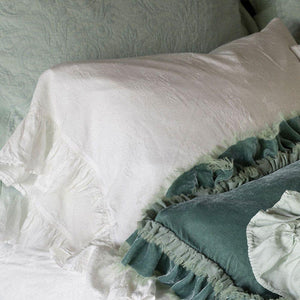 Bella Notte Linens Isabella Pillowcase with Ruffle - AtHomewithBethandChad.com