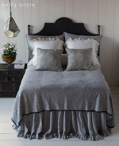 Bella Notte Linens Adele Coverlet with Flange Quick Ship - AtHomewithBethandChad.com