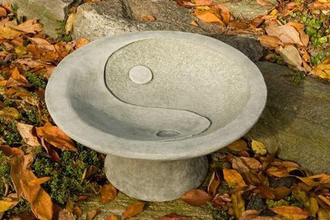 Campania International Yin Yang Pedestal Birdbath The Garden Gates