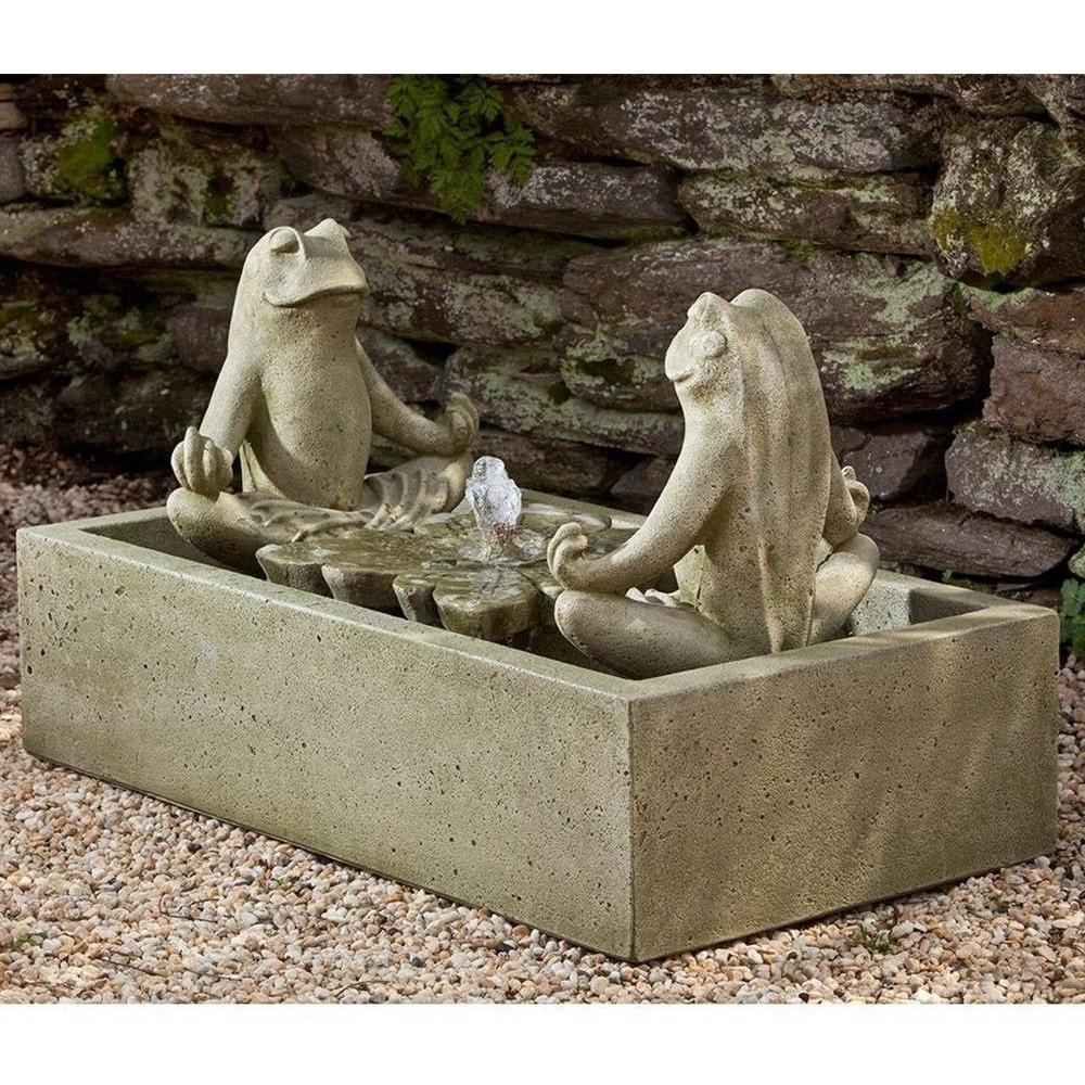 Campania International Zen Too Frogs Meditation Fountain