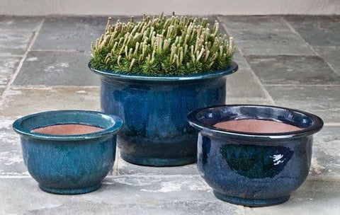 Campania International Alegre Planter Set of 3 in Indigo Rain - AtHomewithBethandChad.com