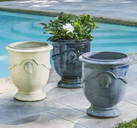 Campania International Cote d'Azur Planter Set of 3 in Antique Cream