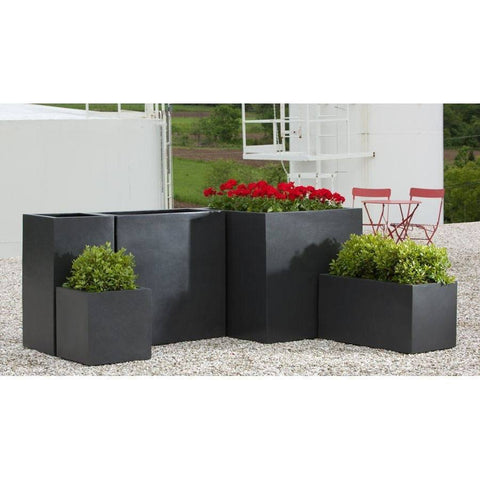 Campania International Modular Lite Planter 2 in Onyx Black