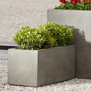 Campania International Modular Lite Planter 3 in Concrete Lite The Garden Gates