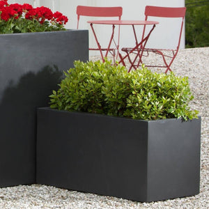 Campania International Modular Lite Planter 3 in Matte Black The Garden Gates